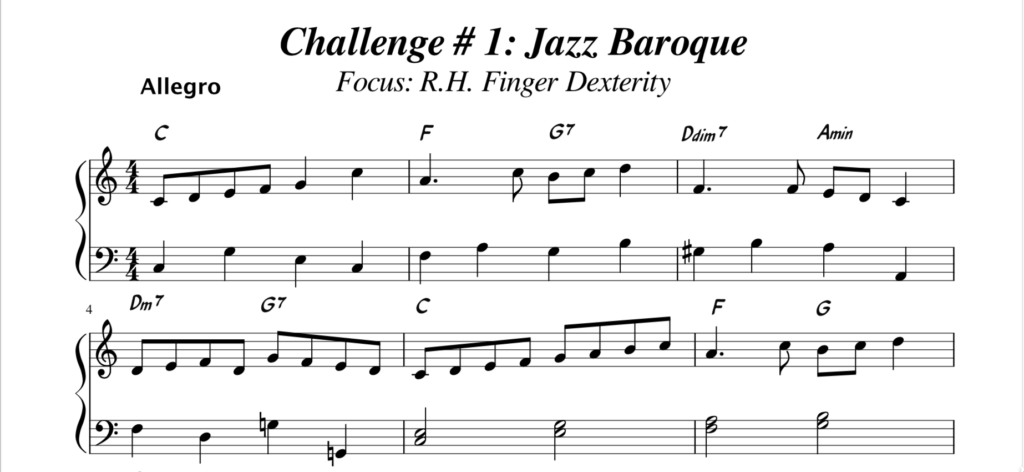Challenge 1 Jazz Baroque